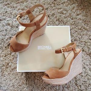 MICHAEL Michael Kors Carlyn Suede Wedge Sandals